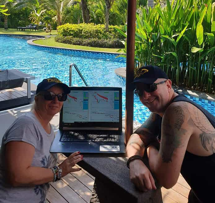 Day Trading and Travelling - Trading by the pool